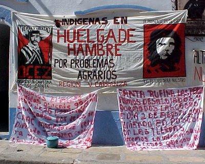 Plantón de la OCEZ-RC en San Cristóbal en julio de 2009 Fuente:http://sintesisinformativa-melel.blogspot.com