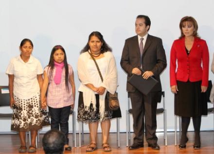 Valentina Rosendo durante el acto oficial de reconocimiento @ quoruminformativo