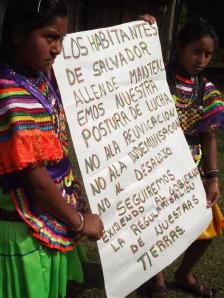 La Misión Civil de Obersación en Salvador Allende Foto @ J. Marquardt (SIPAZ)