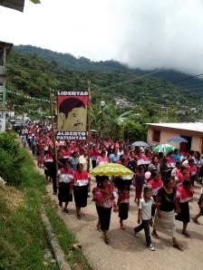 Marcha en la comunidad de El Bosque @ SIPAZ