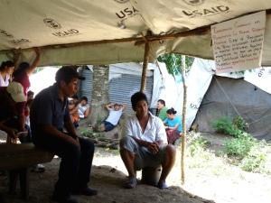 Imagen del campamento de los refugiados guatemaltecos @ Misión Civil de Observación, agosto de 2012