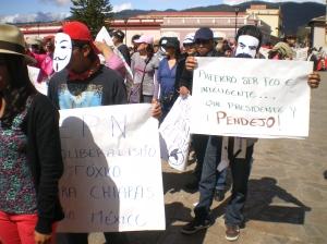 Marcha en San Cristóbal de Las Casas 1 de diciembre @ SIPAZ