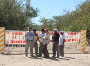 Bloqueo del acceso al parque eólico @ Milenio