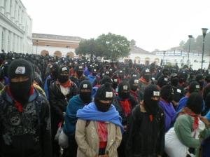 imagen de la movilización zapatista en San Cristóbal de Las Casas, 21 de diciembre de 2012 @ SIPAZ