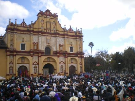 Misa del Pueblo Creyente en Plaza de la Paz @ SIPAZ
