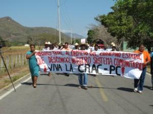 Marcha de la CRAC-PC en San Luis Acatan (@Desinformémonos)