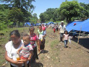Pobladores de Nueva Esperanza en retorno a su tierra @ Frontera Sur