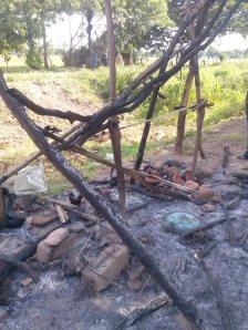 Daños en el campamento. Foto @APPJ