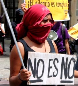 Marcha en Oaxaca. Foto @Subversiones