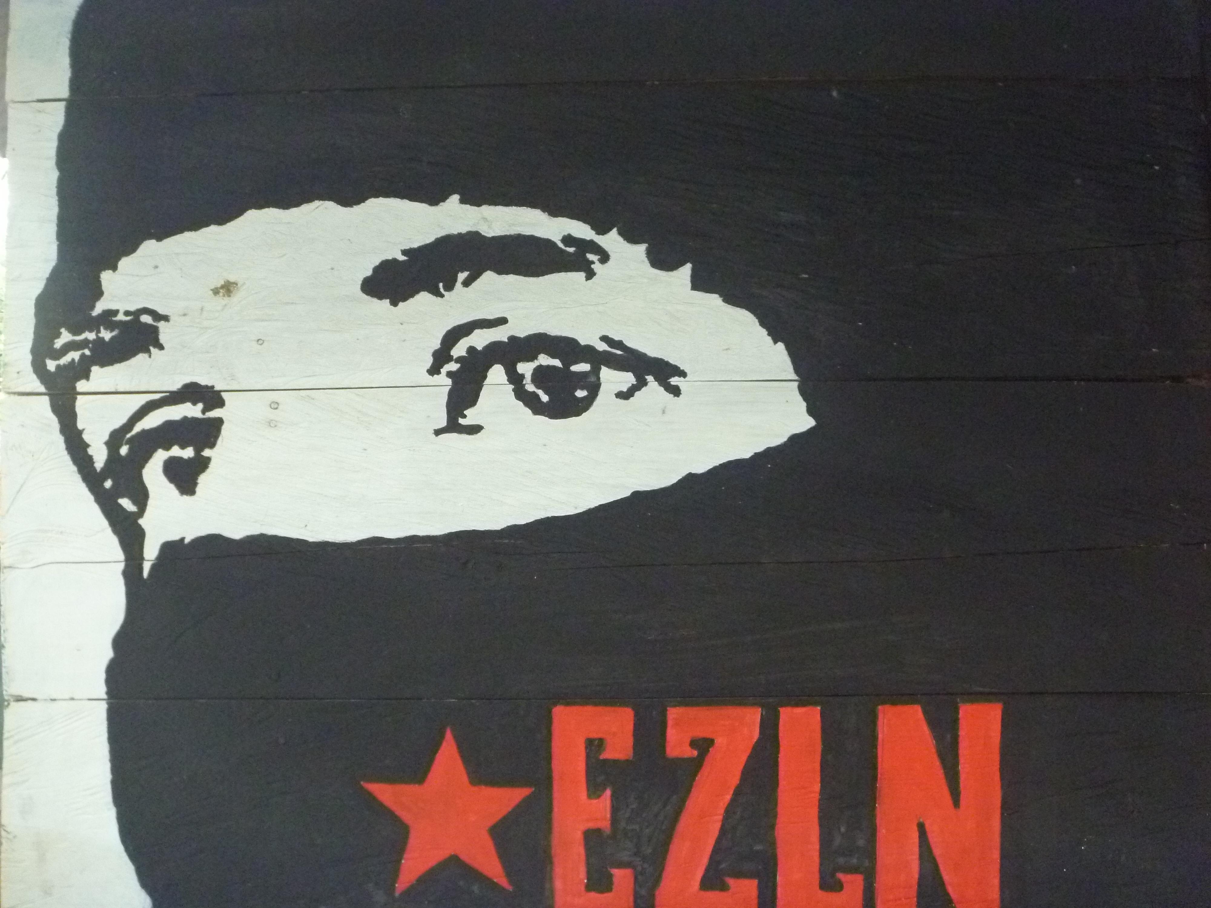 Ej rcito zapatista de liberaci n nacional blog sipaz for Mural zapatista