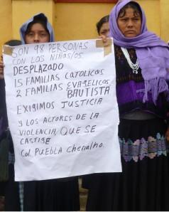 Desplazadas de ejido Puebla. Foto @Sipaz