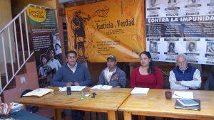 Conferencia de prensa donde leyeron el Dictamen del TPP