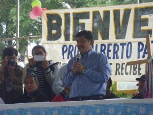 Alberto Patishtán en El Bosque, 1 de diciembre 2013 @ SIPAZ
