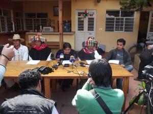 Conferencia de prensa 9 de enero 2014 @ SIPAZ