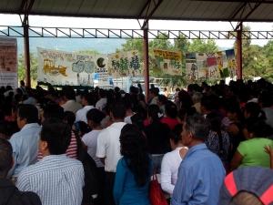 Foro antiminería en Chicomuselo, sept 2012 @ Foto de archivo (SIPAZ)