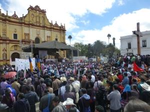 Peregrinación Congreso de la Madre Tierra. Foto @SIPAZ