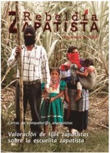 """Portada de la revista """"Rebeldía Zapatista"""""""