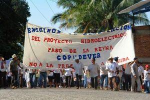 Protesta en Jamiltepec, marzo de 2014 (@EDUCA)