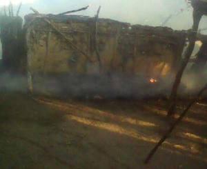 Rancho ardiendo del agente comunitario de Álvaro Obregón. Foto (@ APIITDTyT)