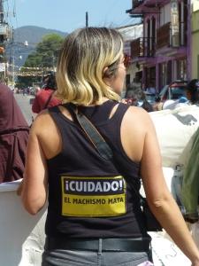 Marcha del 8 de Marzo en San Cristóbal de las Casas. Foto (@Sipaz)