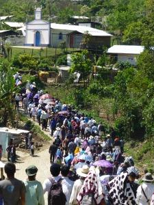 Retorno de las familias desplazadas en Colonia Puebla. Foto (@Sipaz)