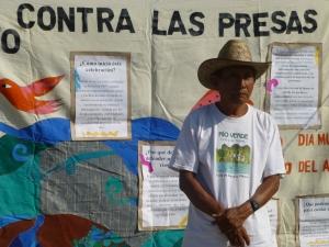Protesta contra el proyecto hidroeléctrico de Paso de la Reina. Foto (@Sipaz)
