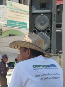 Protesta de COPUDEVER. Foto (@Sipaz)