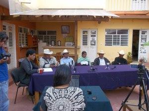 Conferencia de prensa del Ejido Candelaria, septiembre de 2014 (@SiPAZ)