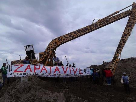 Foto @ Blog del Frente de Pueblos en Defensa de la Tierra (FPDT) de San Salvador Atenco