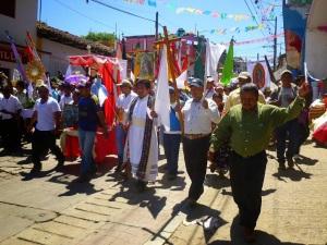 Peregrinación en Simojovel, octubre de 2014 (@Espoir Chiapas)