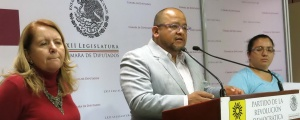 Conferencia de prensa en la Cámara de Diputados (@Grupo Parlamentario del PRD)
