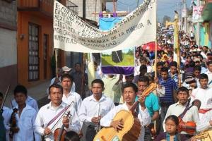 Rechazo a la minería, Pantelho, febrero de 2015 (@Espoir Chiapas)