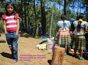 Familias desplazadas del Poblado Primero de Agosto (@CDHFBC)