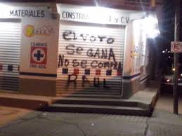 """Pinta: """"El voto se gana, no se compra"""", Teopisca (@Chiapas Paralelo)"""