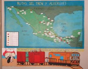 © SIPAZ Mural de migrantes, Chiapas