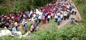 Peregrinación de Pueblo Creyente en El Bosque (@Radio Pozol)
