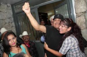 Fernando Jimenéz en los momentos de salir de prisión, @ Julian Ortéga