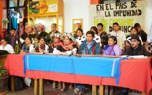 Integrantes de la Sociedad Civil Las Abejas de Acteal y el Frayba @KomanIlel