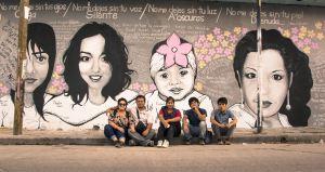 Mural en Tuxtla Gutiérrez conmemorativo de las víctimas de feminicidio en Chiapas. Foto: @Chiapas Paralelo