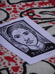 Imagen de la conmemoración de un año de la desaparición forzada de los 43 en San Cristóbal de Las Casas Foto: @SIPAZ