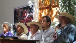 Conferencia de prensa declarando territorios libres de minería Foto: @EDUCA