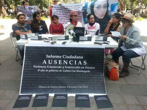 Presentación del Informe Ciudadano AUSENCIAS. Foto: @Página 3.