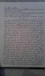 Carta de Roberto Paciencia. Foto: @Kolektivo Zero