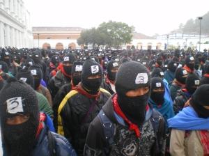 Marcha del EZLN el 21 de diciembre de 2012 en San Cristóbal de Las Casas. Foto:@Sipaz