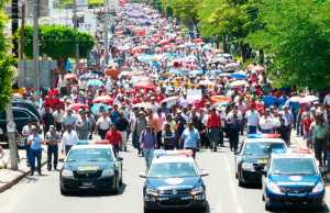 Protesta del magisterio en Tuxtla Gutiérrez, Chiapas.  Foto: @Record Chiapas