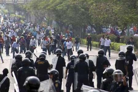 Durante las movilizaciones del magisterio en Chiapas Foto: @Cuartoscuro