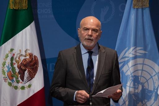 Michael Forst, Relator Especial de Naciones Unidas sobre la situación de los defensores de derechos humanos Foto@MuralChiapas